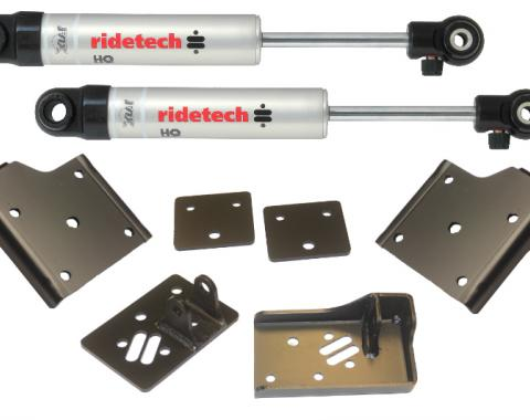 Ridetech 1955-1957 Chevy StreetGRIP Staggered Rear Shock Kit 11019510