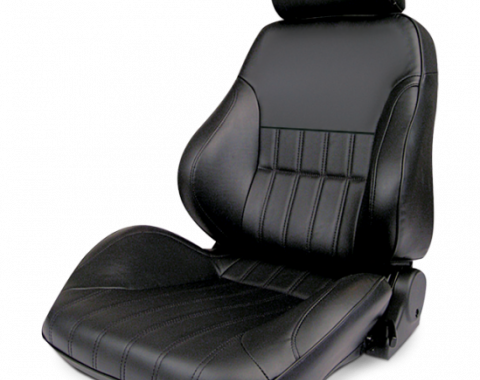 Procar Smoothback Rally Seat, with Headrest, Left, Vinyl