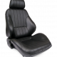Procar Rally Seat, with Headrest, Right, Black Leather