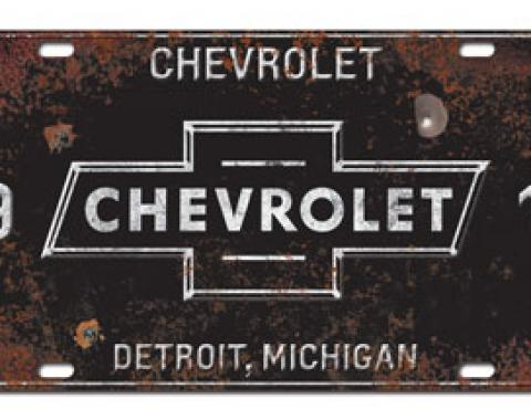 Chevrolet License Plate, 1911 Detroit Michigan